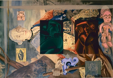 Lampwick's Dilemma, 1989oil and acrylic on canvas94 x 136 inches