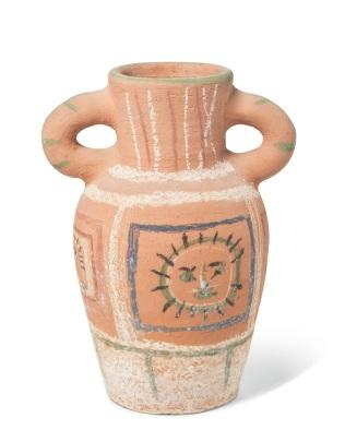 Picasso, Vase au decor pastel 1
